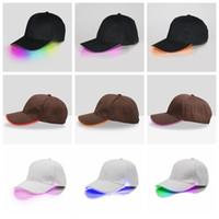 La luminiscencia LED gorra de béisbol de luminiscencia al aire libre sombrero del deporte Light Up unisex brillan en la oscuridad casquillos del Snapback LJJA3397