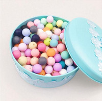 12mm 15mm 20mm Silicone Teething Beads Round 15mm For Neckla...