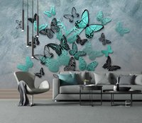3d wallpaper murals custom living room bedroom home decor HD hand-painted 3D stereo butterfly nostalgia decorative painting murals