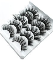 NEW 5Pairs Faux 3D Mink Eyelashes False Eyelashes Natural Th...