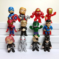 12 stili Avengers Figure Thanos Giocattoli in PVC Bambola Spiderman Iron Man Thor Hulk Black Panther da collezione Model Toys