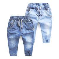 Junge Jeans Frühling und Herbst-Kind-Jeans Kleidung Lässige Baby Denim Infant Hose Boy Kinder Hosen Jeans für Jungen