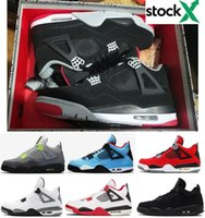 Best Quality 4s New Bred Black Cat Neon White Cement Basketb...