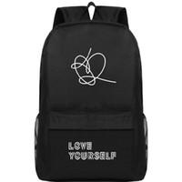 أحب نفسك على ظهره BTS نجمة اليوم حزمة جيون جونغ كوك حقيبة مدرسية جودة packsack الترفيه الظهر الرياضة المدرسية في الهواء الطلق daypack