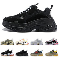 2020 s triplos 20fw das mulheres dos homens de moda de luxo sneakers plataforma sapatos de grife preto produzido brancas do cinza dos homens formadores verdes ocasional do vintage da sapata