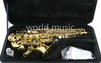 Yeni Yanagisawa W010 Soprano B (B) Saksafon Durumda Ile Yüksek Kaliteli Müzik Aletleri Inci Düğmeler Sax Ağızlık