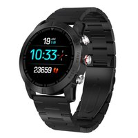 Pressione classico orologio in acciaio inossidabile intelligente Guarda Sport Watch sanguigna Monitor Salute Banda fitness Per Fitbit per Ios Android