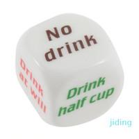 Оптовые питье для напитков для удаления Dice Games Pub Bar Fun Die Toy Griver Toy Toy KTV Bar Game Pharing Dice 2.5см 100 шт.