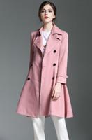 새로운 도착! 여성 패션 더블 브레스트 긴 드레스 트렌치 코트 / 고품질 브랜드 디자인 슬림 맞는 트렌치 여성 크기 S-XXL B89146