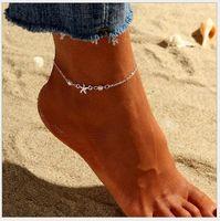 새로운 여름 유럽과 미국 anklet 여성 뜨거운 패션 불가사리 해변 진주 발목 인기있는 jewelry978