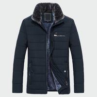 Collo di pelliccia 2020 Nuovo stile inverno uomo caldo cappotto caldo in pile moda lunghi giacche da uomo abbigliamento maschio soprabito