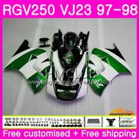 Bodys voor Suzuki SAPC RGV-250 VJ22 VJ21 RGV 250 97 98 99 Frame 19HM.129 RVG250 VJ23 RGV250 VJ 21 22 23 1997 1998 1999 Groene witte kuip