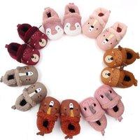 بنات طفل بنين الأولى حمالات لينة أحذية الرضع طفل لطيف الحيوان طباعة نعال أحذية سرير أحذية حذاء طفل حديث الولادة