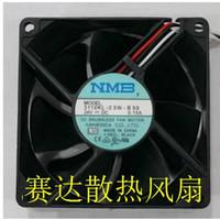 Original NMB 8025 24V 0.15A 3110KL-05W-B59 ventilador de doble bola de tres cables de tres cables