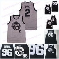 Moive Turnier Shooting # 96 Birdie Tupac 23 motaw 2 Pac Movie Basketball Jersey 100% genäht schwarz S-3XL Schneller Versand 1 Transaktionen