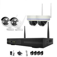 4 adet 4ch Kablosuz Güvenlik Kamera Sistemi WIFI Kiti NVR 720 P Gece Görüş IR-Kesim CCTV Ev Gözetim Su Geçirmez