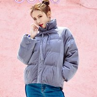 Female Winter New Thick Warm Corduroy Down Jacket Ladies Fas...