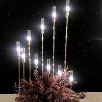 Metal Şamdanlar Çiçek Vazolar Mumlukları Düğün Masa Centerpieces Mumluk Pillar Parti Dekoru Yol Kurşun EEA484-a standlar