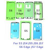 Samsung Galaxy S3 S4 S5 S6 S6 Kenar S7, S7 Edge için 10pcs / lot Orijinal Ön Kesimli Ön Çerçeve Yapışkan LCD Sticker Tutkal Bant
