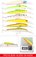 Высокое качество 24Pcs / Set Mix Стили 2 # 6 # Hook Minnow рыболовной приманка Пластикового Bassbait Крючки Искусственный бас воблер снасть
