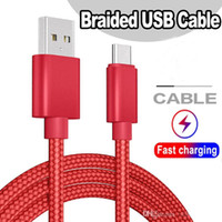 2.1 A Unbroken heavy Metal Braid Type C Micro USB Data Cable Charger Lead 1M 2M 3M For Huawei Samsung S 5 6 7 8 Android Phones