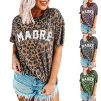 Mulheres Designer camisetas Verão da forma das mulheres Leopard Marca letra impressa Tees tops de manga Womens Luxo Tripulação pescoço curto T-shirts Nova