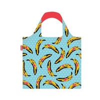 Moda plátano impresión plegable respetuoso del medio ambiente Carro de la bolsa de asas de la bolsa plegable conveniente bolsos de gran capacidad de ultramarinos bolsa de viaje