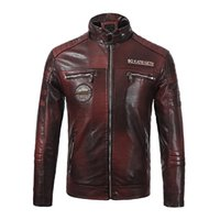 Mens Designer Jacket Leather New Brand Men Leather Coat Fash...