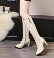 Nieuwe Collectie Hot Koop Specials Super Fashion Intrux Martin Roman College Wind Comfortabele Rhinestone Grote Maat Knight Hakken Laarzen EU34-45