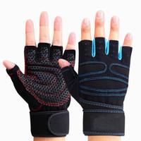1 пара езда перчатки Спорт Фитнес Перчатки Wrist Тяжелая рука Половина Finger Gym Обучение Бодибилдинг Спортивные перчатки