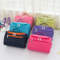 جديد الكورية نمط بلون هوك نوع حقيبة يد المرأة حقيبة مستحضرات التجميل حقائب السفر التخزين أكياس الغسيل