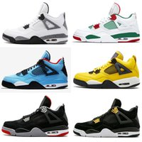 2019 New Mens Jumpman 4 4s Basketball Shoes Cactus Jack Whit...
