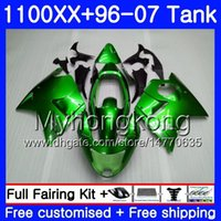 + Tank voor Honda Blackbird CBR1100 XX CBR1100XX 96 97 98 99 00 01 271HM.7 CBR 1100xx Lichtgroen Hot 1996 1997 1998 1999 2000 2001 Valerijen