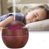 Usb الخشب الحبوب آلة الروائح بالموجات الهواء المرطب الروائح البسيطة المحمولة باخرة الوجه led الزيوت الأساسية الناشر T2I5175