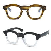الرجال النظارات البصرية إطارات النظارات العلامة التجارية إطارات خمر موضة نظارات إطارات للمرأة وقناع اليدوية قصر النظر نظارات مع القضية