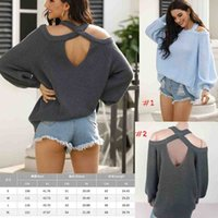 Fashion New pattern O- Neck back cross sweater batwing sleeve...