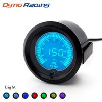 """2"""" (52mm) EVO LCD 7 Renk Araç Yağ sıcaklığı göstergesi 50-150 santigrat Oli Sıcaklık Ölçer ile Sensör TT100112"""