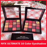 Menor sombra preço NYX final Eye Palette 16 Matte Cor Sombra Eye Make up Com alta qualidade