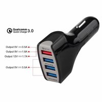 Quick Charger 4USB Ports QC 3. 0 Car Phone Charger Adapter Sm...