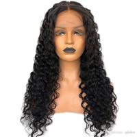 Doğal Kıvırcık Dantel Peruk İnsan Saç Öncesi Klumped Siyah Kadınlar Için Tutkalsız Kıvırcık Tam Dantel Brezilyalı Saç Peruk Ile Bebek Saç