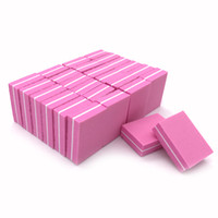 JEARLYU 20 pz / lotto Nail File 100/180 Double-sided Mini Nail File Block Rosa Spugna Art Sanding Buffer File Strumenti per manicure