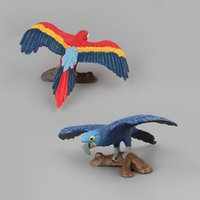 Animal Model Toy Birds Jingang Parrot Doll Ornaments Static ...