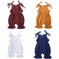 Детские младенческой комбинезон Подтяжки Romper Детские летние Комбинезоны Мальчики Девочки Rompers Candy Цвет одежды Soft Удобный для 3М-3Y Детские CZ306
