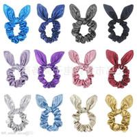 Ins sirena donne ragazze bunny orecchie scrunchie fascia per capelli corda abbronzante capelli cravatta archi elastico ponytail holder bands accessori per capelli grande arco