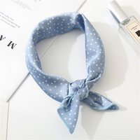2019 New Women Scarf 50*50cm Spring Autumn Dot Point Small S...