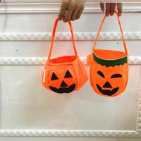 Halloween Pumpkin Bag Cosplay dei prodotti di Halloween Tessuto non tessuto trucco portatile per bambini Candy Bag