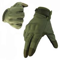 All'ingrosso Camouflage-Outdoor Guanti tattici dell'esercito impermeabile ripresa Paintball Escursioni Arrampicata Sport Figura Finger Gloves
