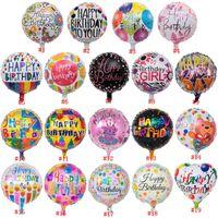 18inch Joyeux anniversaire Ballon feuille d'aluminium Ballons à l'hélium Ballon Mylar Balles pour Party KKD Décoration Jouets Globos DHA51