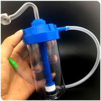 Grande bouteille d'oxygène acrylique plastique Hookahs dab Plates-formes pétrolières Bangs de recyclage interne Bangs de filtre silencieux 1set (Bangs + bol + tuyau)