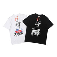 19SS Box Logo X Jean Tee Graffiti Couple Hip Hop Fashion Men...